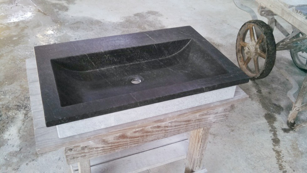 "27"" drop in Sweep - VA soapstone sink"