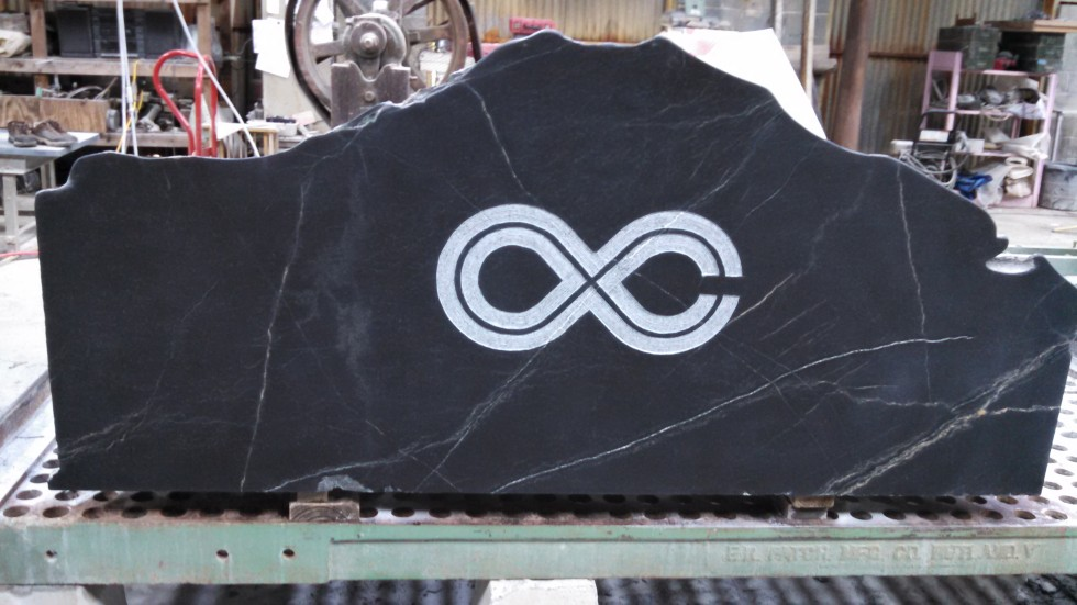 Soapstone blocks for water station bases at the Lockn' Music Festival 2014