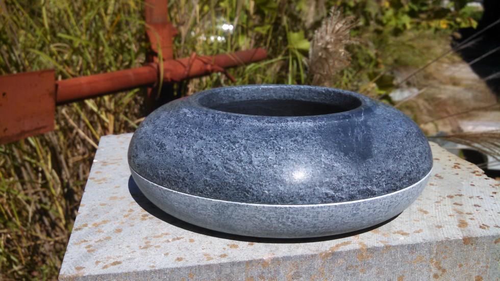 two-tone soapstone vessel